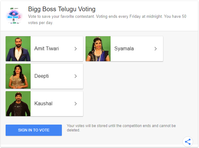 Bigg Boss Telugu Vote Online Voting & Missed Call Numbers For 13th Week Elimination.png