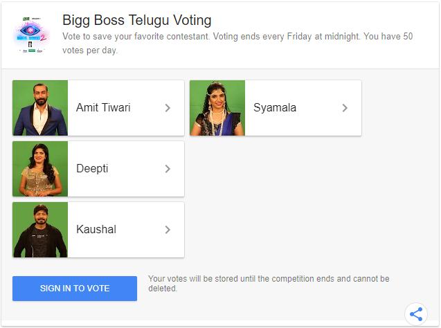 Bigg Boss Telugu Vote Online Voting & Missed Call Numbers For 13th Week Elimination.png