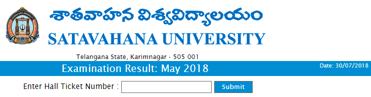Satavahana University 2nd and 4th sem degree results 2018.PNG