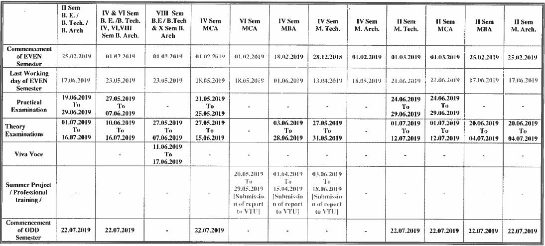 vtu even semester academic calendar 2018-19.png